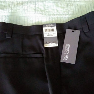 Kenneth Cole Reaction Black Flat-Front Dress Pants